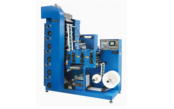 6 Color Flexographic Printing Machine with Three Die Cutting Station LRY-330/450